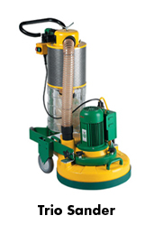 trio floor sanding machine by lagler