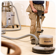 Buffing the floor after full sanding is completed is essential for achieving smothest result possible.
