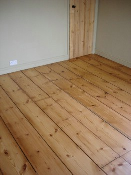 Sanded and Sealed wood floor