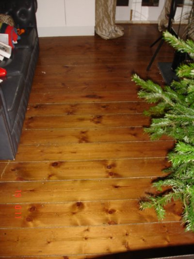 Old Pine Floor Sanding and Varnishing
