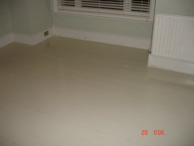 Floor Sanded and Painted White