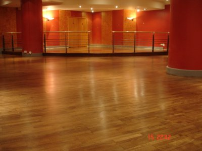 BELCANTO RESTAURANT WOOD FLOOR SANDED, STAINED AND SEALED