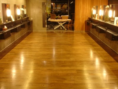 AVEDA OAK FLOOR SANDED, STAINED AND SEALED