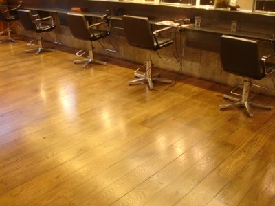 AVEDA COVENT GARDEN WOOD FLOOR SANDED, STAINED AND SEALED IN 2009
