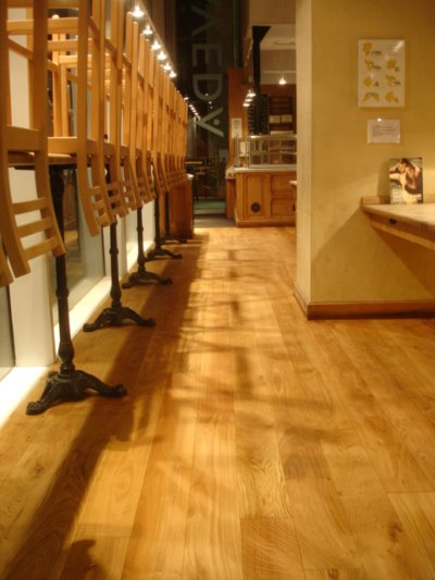 AVEDA CAFFEE WOOD FLOOR SANDED AND OILED BY SWF IN 2009