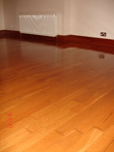 Old Cherry Floor Sanded and Varnished