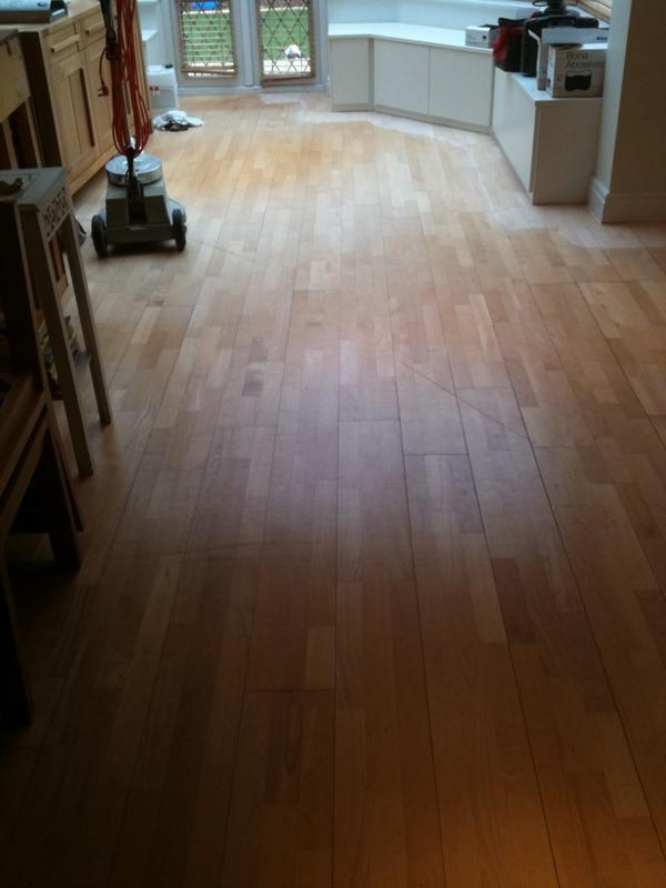 3 strip engineered oak floor before sanding and sealing