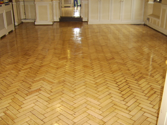 The Christ Church floor turned into beautifully finished flooring by heavy sanding and resealing with 3 coats of high traffic lacquer