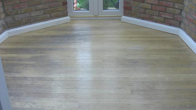Oak floor boards before resurfacing