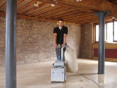 Magnetic dust free floor sanding services in Emerson Park