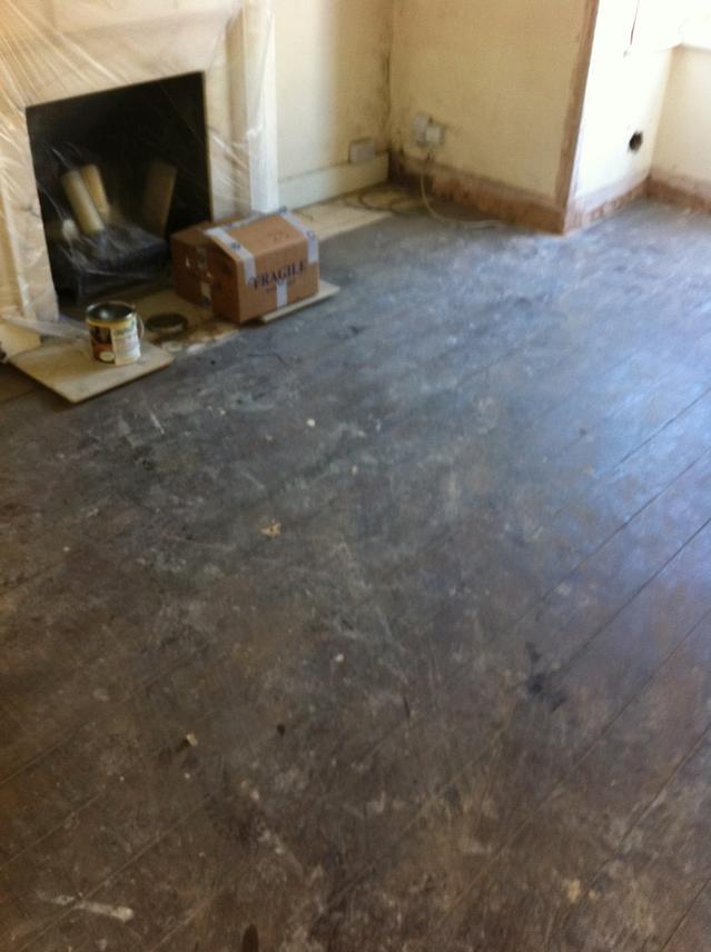 Very original pine floorboards before renovation