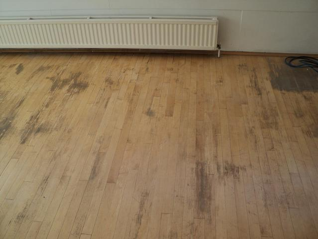 Hardwood strip before renovation