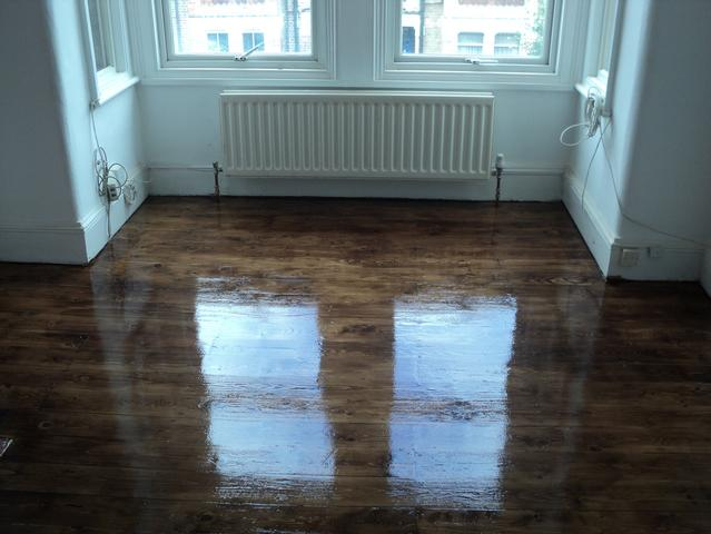 A fantastic transformation of original floorboards by Floor sanding and polishing.