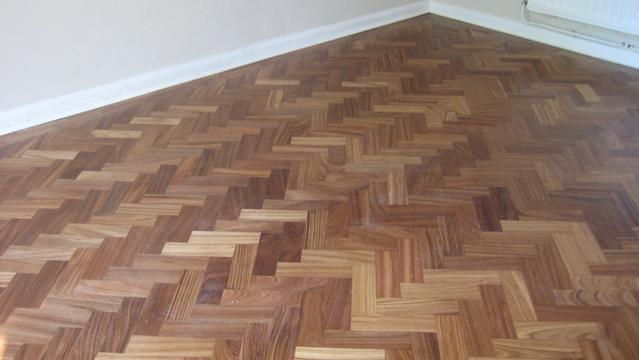 Parquet flooring repair after. Amazing transformation :)