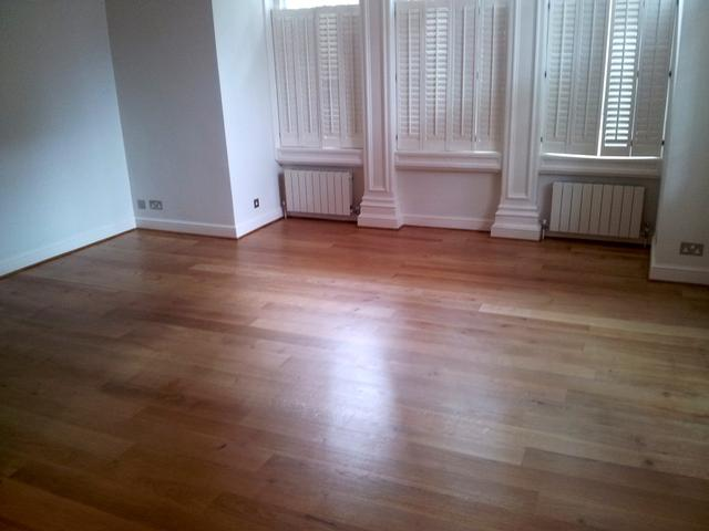 Lovely sanded and sealed oak flooring.